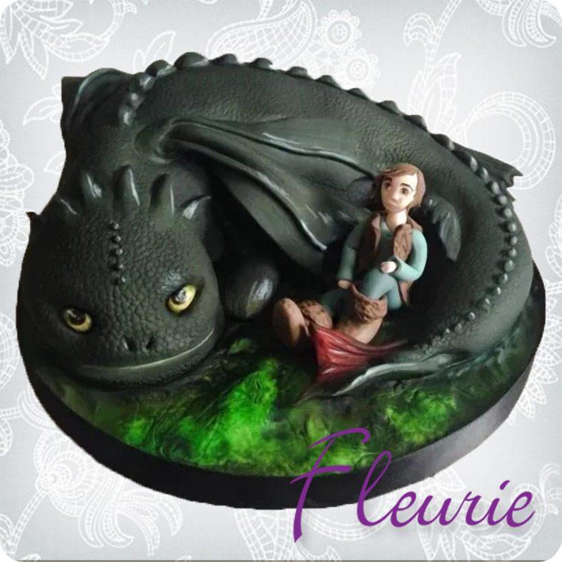 Торт в виде дракона беззубика 189