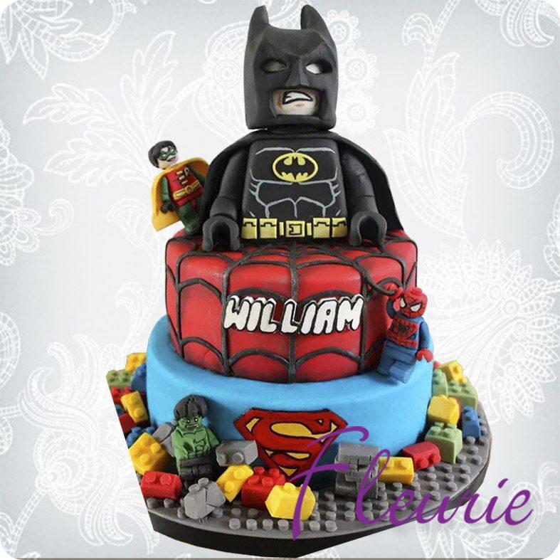 Фото детского торта лего бэтмен